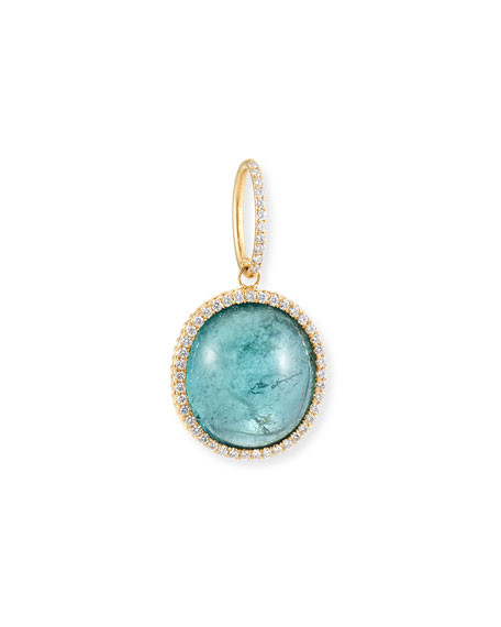 Dominique Cohen 18k Blue-Green Tourmaline & Diamond Pendant