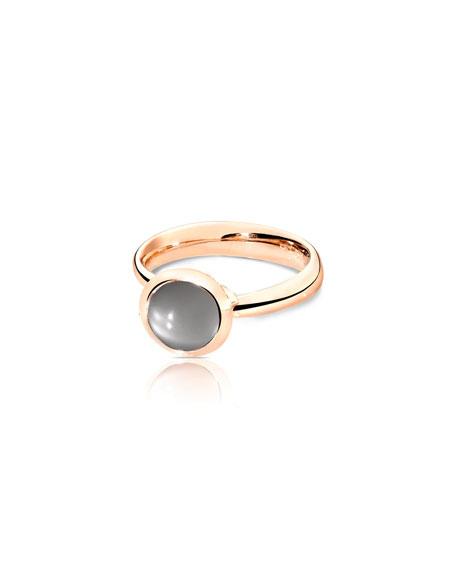Tamara Comolli 18k Rose Gold Small Bouton Moonstone Cabochon Ring, Size 7/54