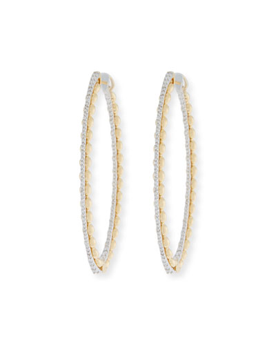 Marea 18k Gold Two-Tone Diamond Hoop Earrings