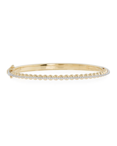 Marea 18k Gold Two-Tone Diamond Bangle Bracelet