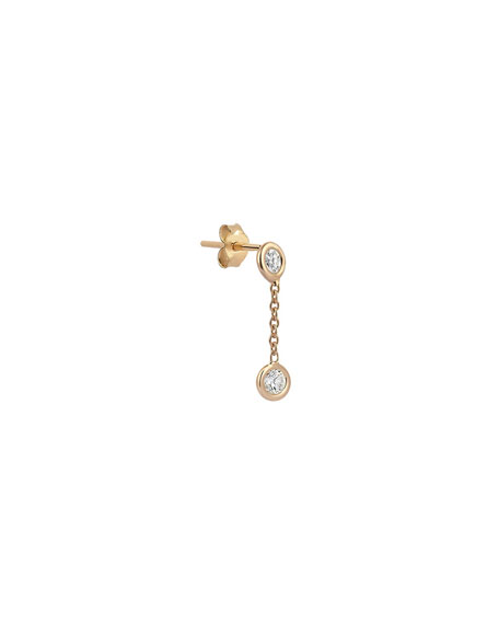 Kismet by Milka 14k Rose Gold Two-Diamond Stud Earring (Single)