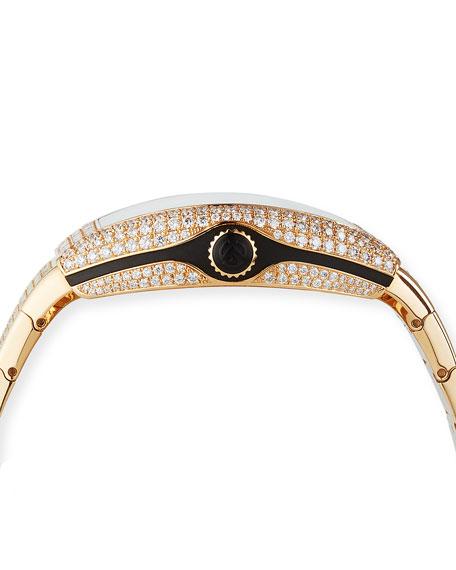 Franck Muller Vanguard 18k Rose Gold Diamond Bracelet Watch