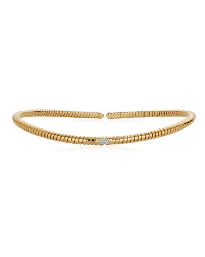 Trisola 18k Gold Diamond Collar Necklace  Size M