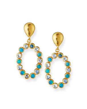 409968e59a1 Gurhan One-of-a-Kind 24k Gold Opal   Aquamarine Drop Earrings