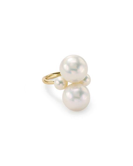 Ippolita Nova 18k Gold & Pearl Cluster Ring