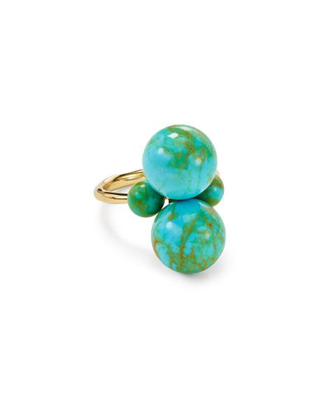 Ippolita Nova 18k Gold Turquoise Matrix Ring