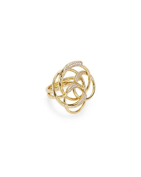 Ippolita 18k Gold & Diamond Stardust Ring