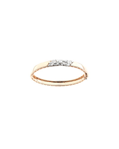 Round & Marquise Diamond Bangle in 18k Gold  1.41tcw