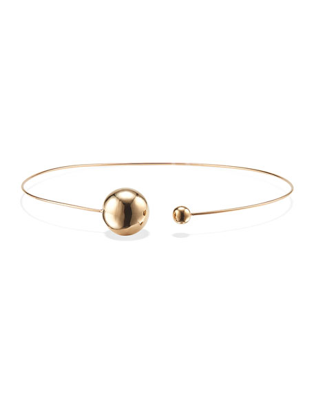 LANA 14k Gold Lumen Bead & Open Choker Necklace