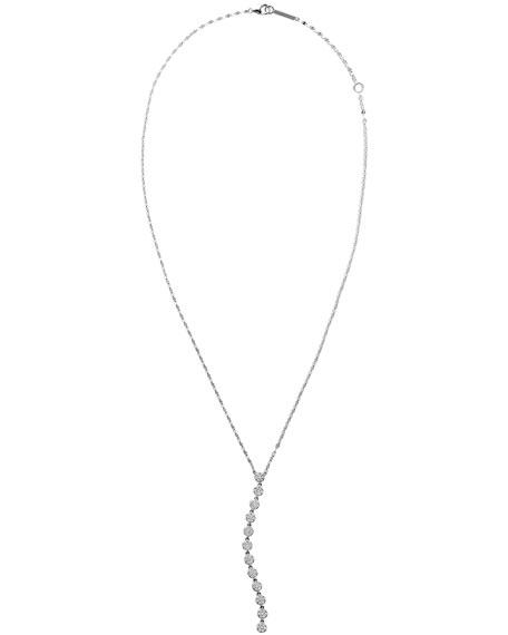 LANA 14k White Gold Legacy Diamond Lariat Necklace