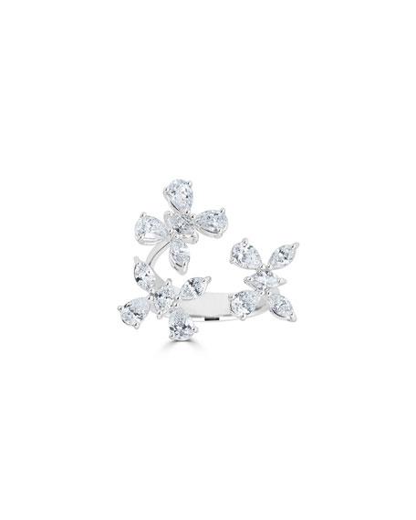 ZYDO 18k Luminal Diamond Butterfly Open Ring, 2.65tcw, Size 6.75