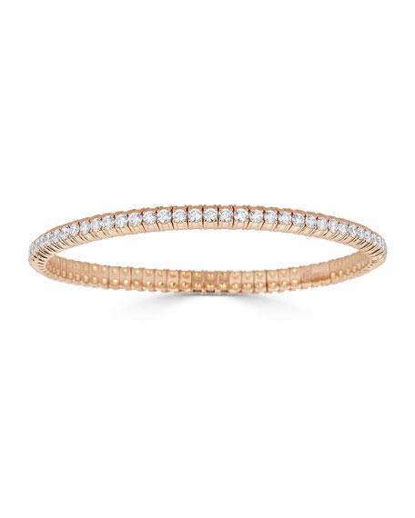 ZYDO Diamond Stretch Bracelet in 18k Rose Gold, 3.82tcw