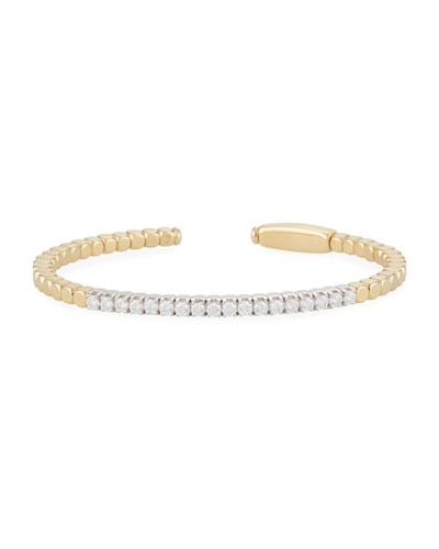 Dado 18k Gold Diamond Bangle Bracelet