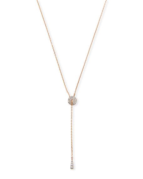 Stevie Wren 14k Rose Gold Diamond Circle Lariat Necklace