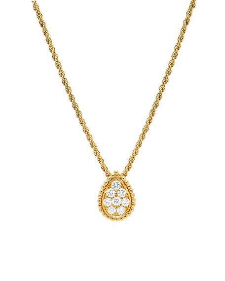 Boucheron SERPENT BOHEME 18K GOLD DIAMOND NECKLACE