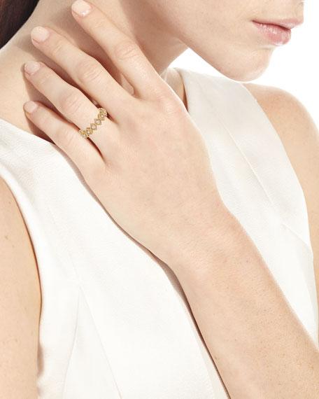 Roberto Coin New Barocco 18k Gold Diamond Ring, Size 6.5