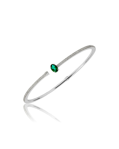 Hueb SPECTRUM 18K WHITE GOLD DIAMOND & EMERALD BRACELET