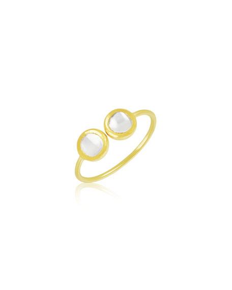 Legend Amrapali Kundan Vintage Diamond Cuff Ring, Size 6