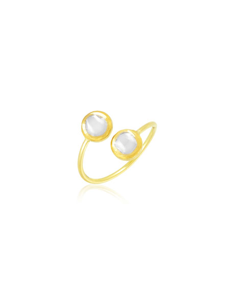 Legend Amrapali Kundan Vintage Diamond Bypass Ring, Size 6