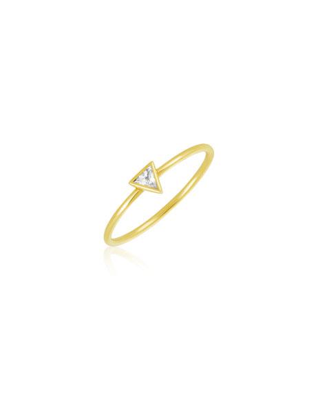 Legend Amrapali Rasayana Triangle Sapphire Stack Ring, Size 7