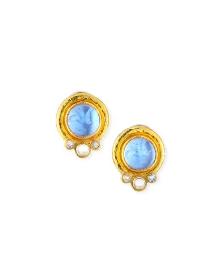 Tiny Griffin 19k Venetian Glass Stud Earrings