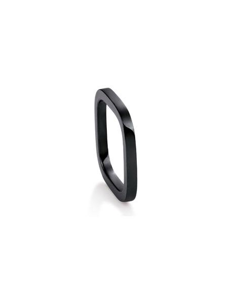 GINETTE NY TV Black Ceramic Ring, Size 7