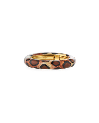 Jungle Leopard Enamel Ring w/ Diamonds
