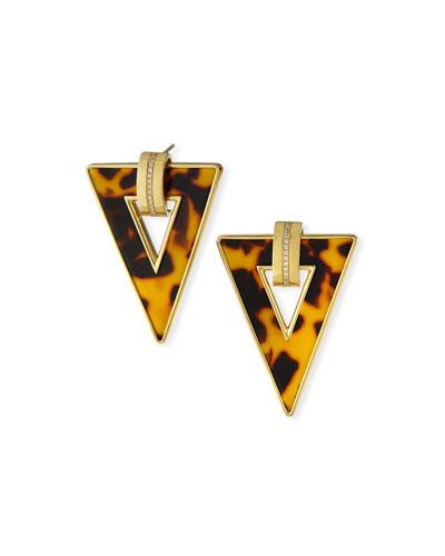 Limited Edition 18k Animal-Print Triangle Earrings w/ Diamonds