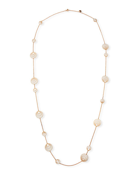 Gismondi 1754 Aura 18k Rose Gold Enamel & Diamond Station Necklace