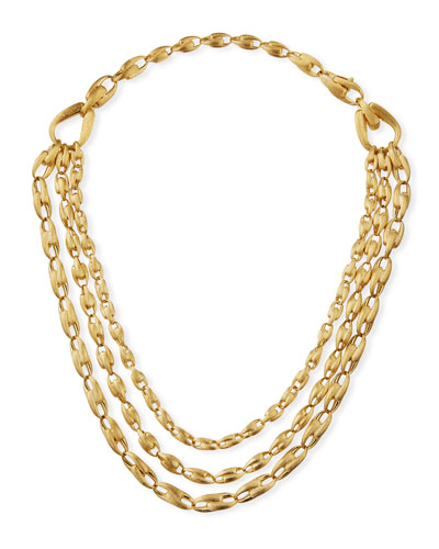 18K Gold Legàmi Triple-Strand Necklace