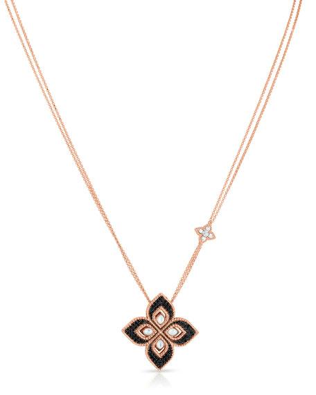 Roberto Coin Venetian Princess 18k Rose Gold Diamond & Mother-of-Pearl Necklace