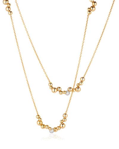 Mini Atomo Diamond Necklace in 18K Gold  42