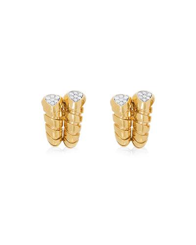Trisola 18k Gold Diamond Huggie Earrings