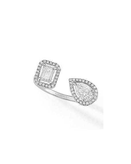 Messika My Twin Toi & Moi Diamond Ring, White Gold