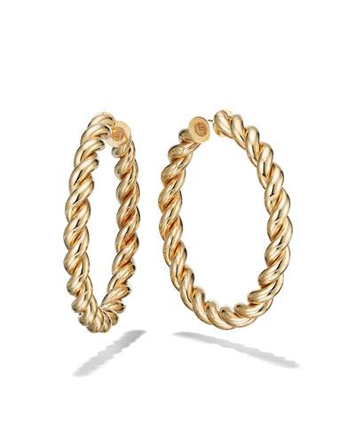 60mm Braid Royale Hoop Earrings