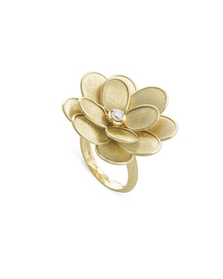 Marco Bicego 18k Petali Ring w/ Diamonds, Size 7