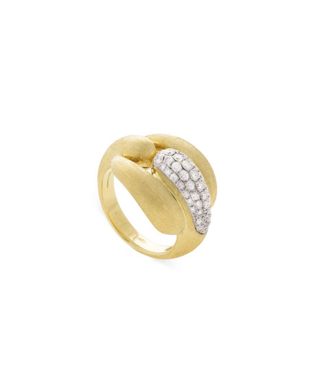 Marco Bicego Lucia 18k Gold Link Ring w/ Diamonds