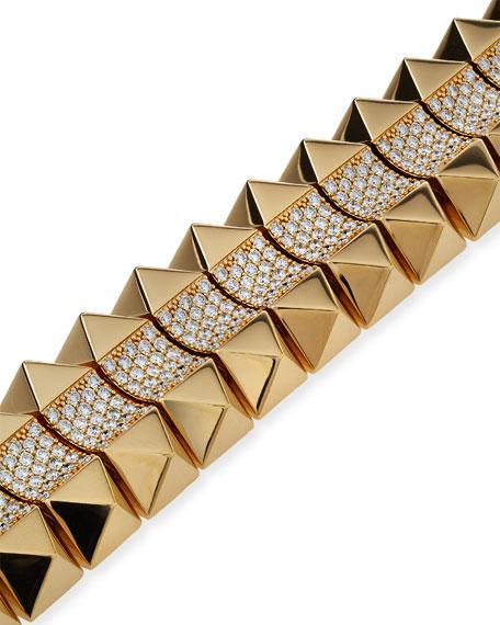 Roberto Coin 18k Gold Rock & Diamond Bracelet - Mid