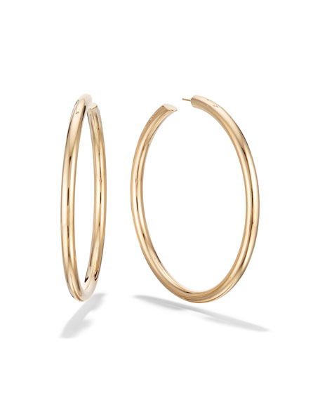 LANA 14k Gold Royal Hoop Earrings