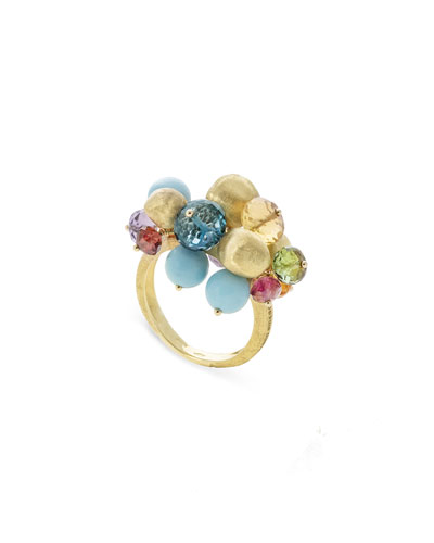 Africa 18k Multi-Stone Cluster Ring  Size 7