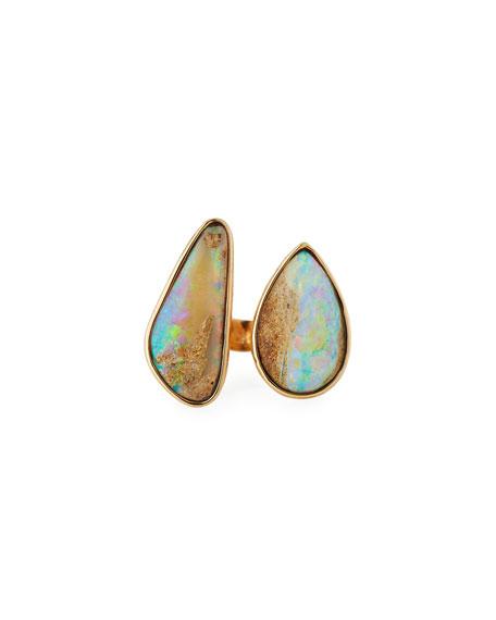 K Brunini Twig 18k Large Double-Opal Ring