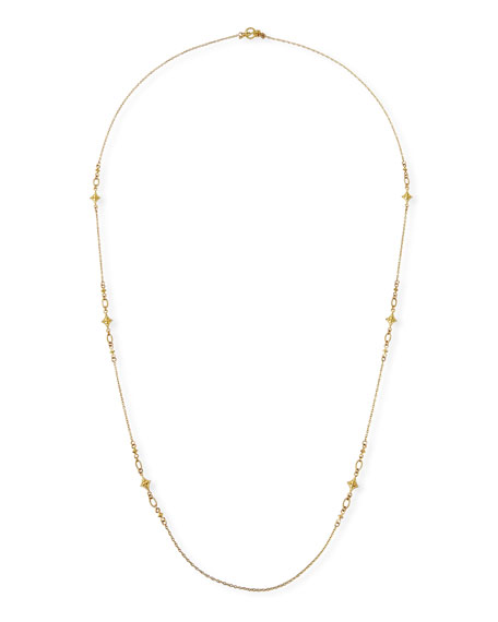 "Armenta Long 18k Crivelli-Station Necklace, 36""L"