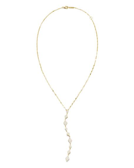 LANA 14k Flawless Kite Lariat Necklace w/ Diamonds