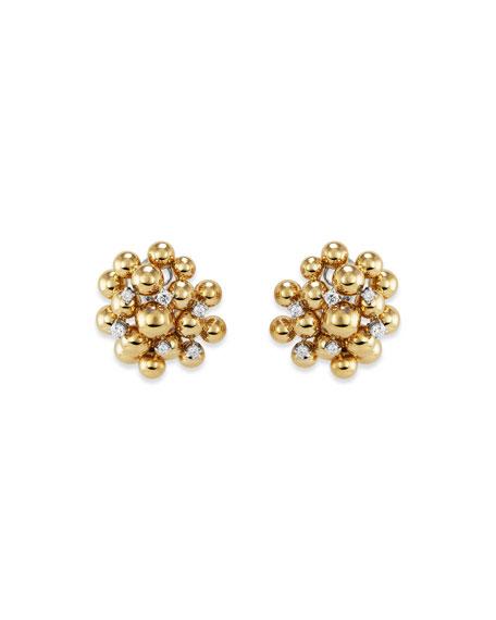 Staurino 18k Bubble & Diamond Stud Earrings