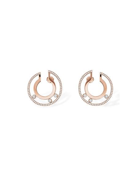 Messika Move Romane Large Rose Gold Hoop Earrings