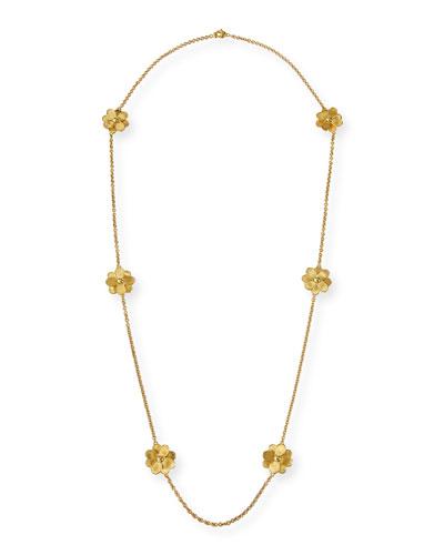 Petali 18k Long 6-Flower Necklace