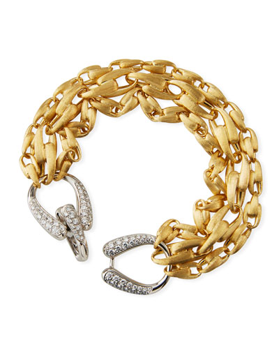 Lucia 18k 3-Chain Bracelet w/ Diamonds