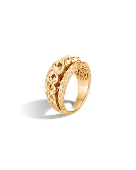 John Hardy Asli Classic Chain 18k Link Ring, Size 7