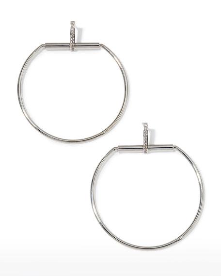 Roberto Coin Classica Parisienne 18k Drop Earrings w/ Diamonds