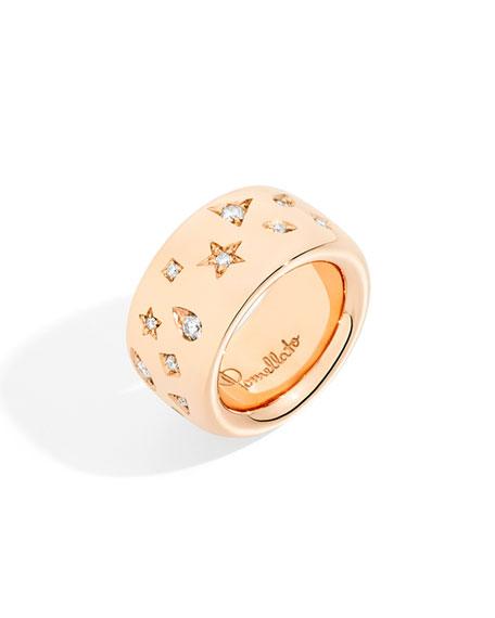 Pomellato Iconica Maxi 18K Rose Gold Diamond Ring, Size 53
